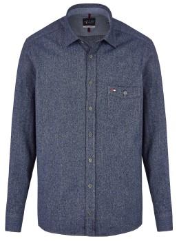 Langarmhemd in Jeansoptik