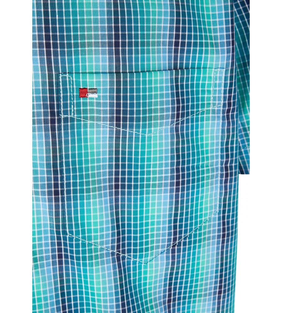 Modernes Hemd im Karo-Look Kurzarm JC90009-52111-455 detail1