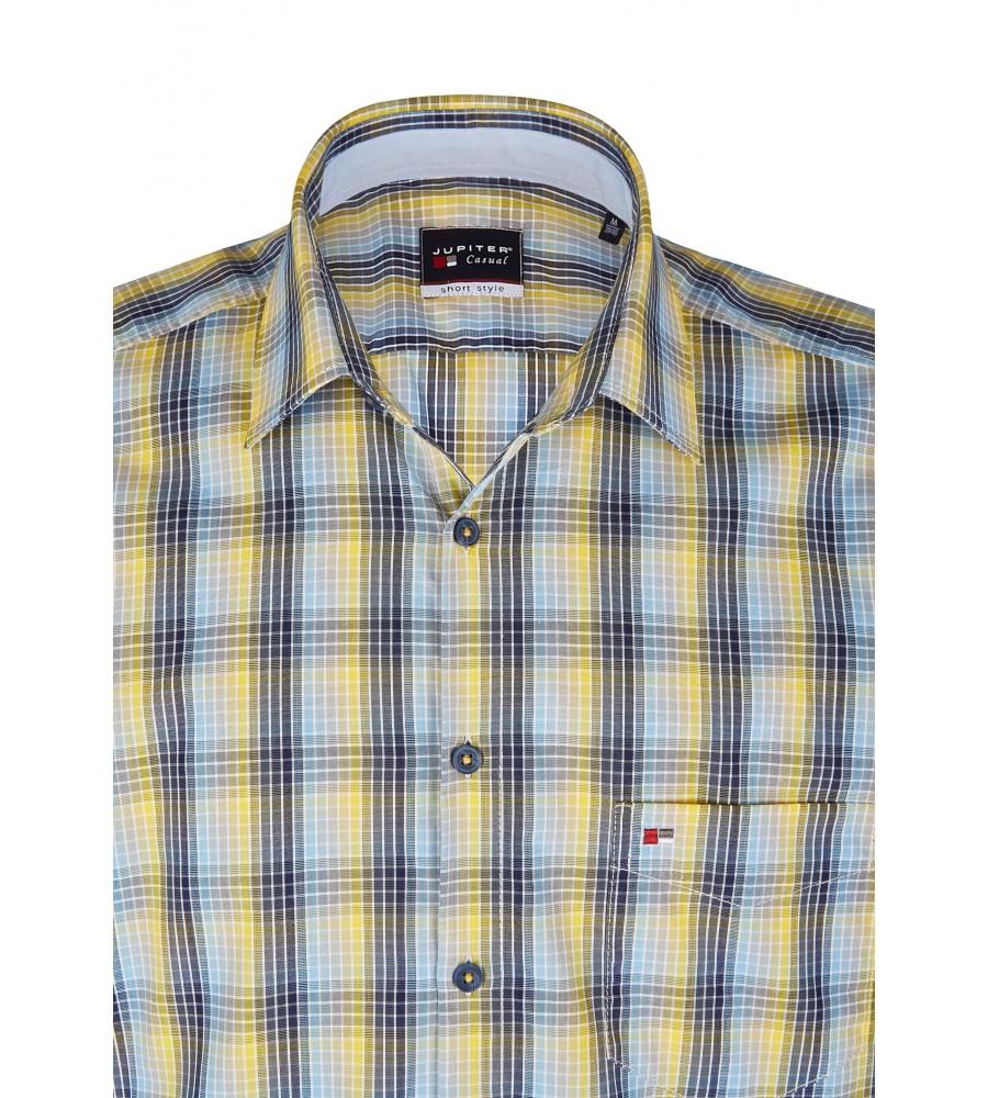 Modernes Hemd im Karo-Look Kurzarm JC90009-52111-554 detail1