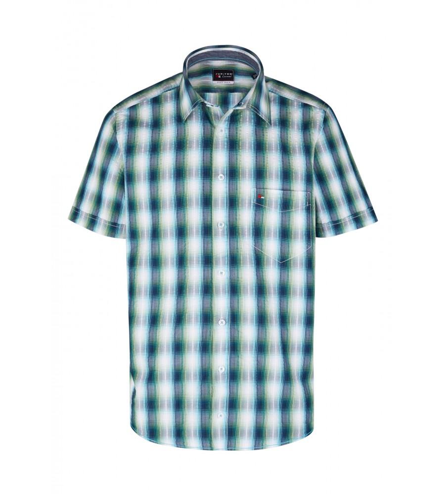 Modernes Hemd im Karo-Look Kurzarm JC94002-52111-455 front