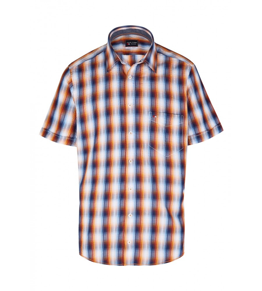 Modernes Hemd im Karo-Look Kurzarm JC94002-52111-653 front