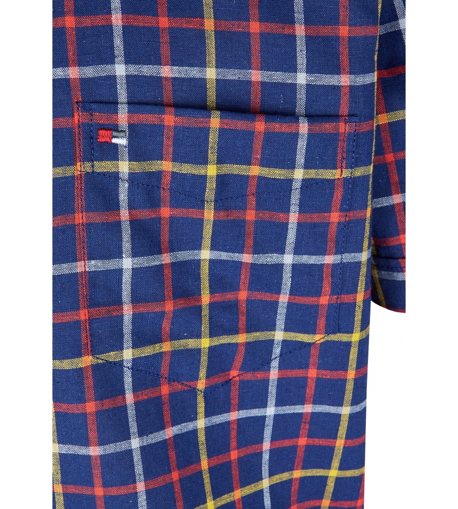 Modernes Hemd im Karo-Look Kurzarm JC94006-52111-980 detail2