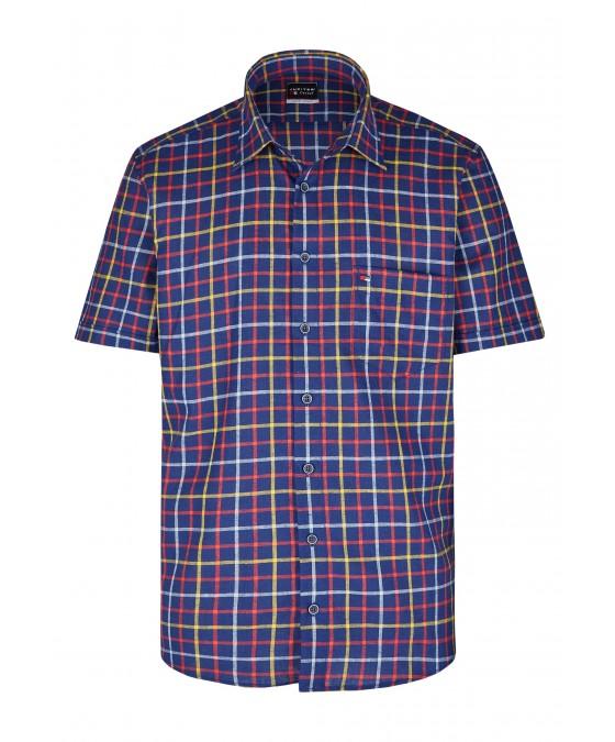 Modernes Hemd im Karo-Look Kurzarm JC94006-52111-980 front